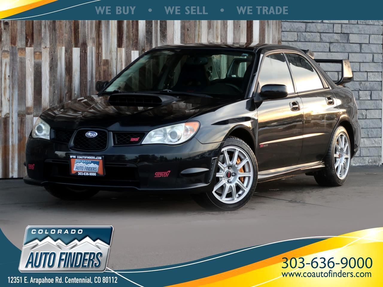 2007 Subaru Impreza Sedan 4dr H4 Turbo WRX STI w/Slver Wheels