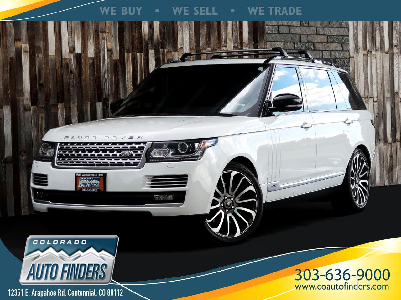 2015 Land Rover Range Rover 4WD 4dr Autobiography LWB