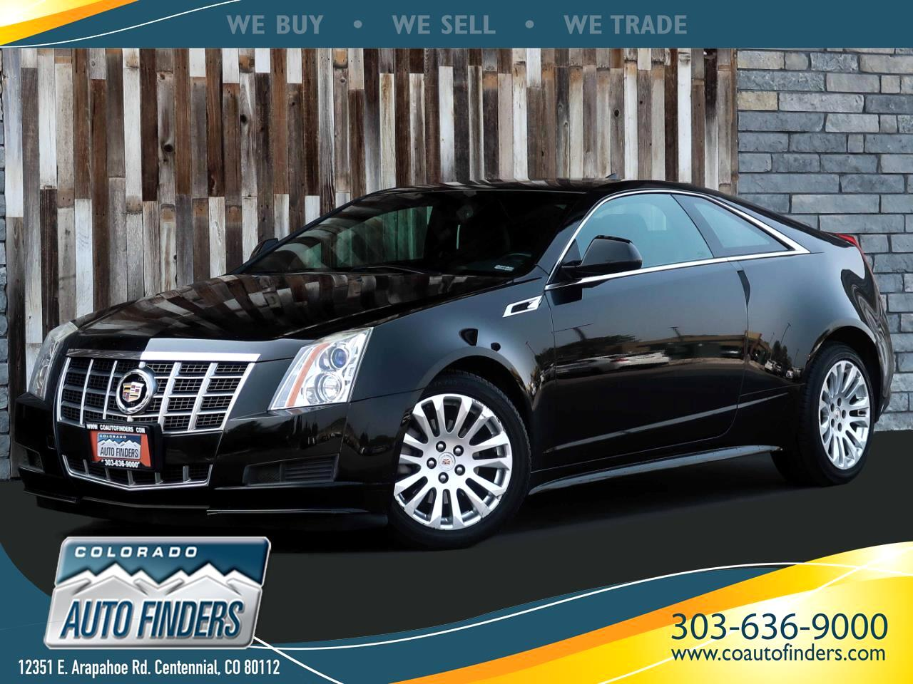Cadillac CTS Base Coupe AWD 2012