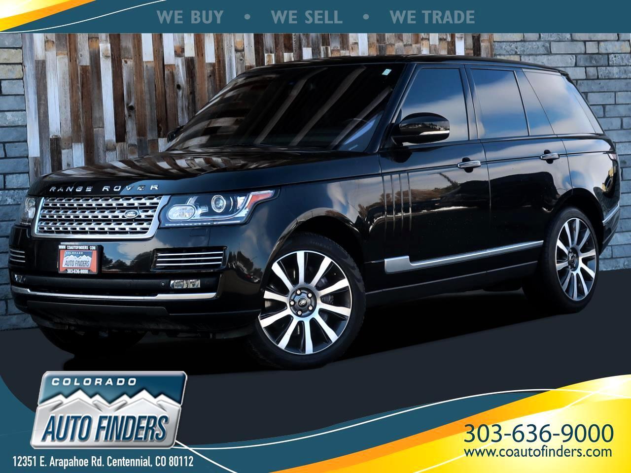 Land Rover Range Rover Supercharged Plus Autobiography Pkg 2014