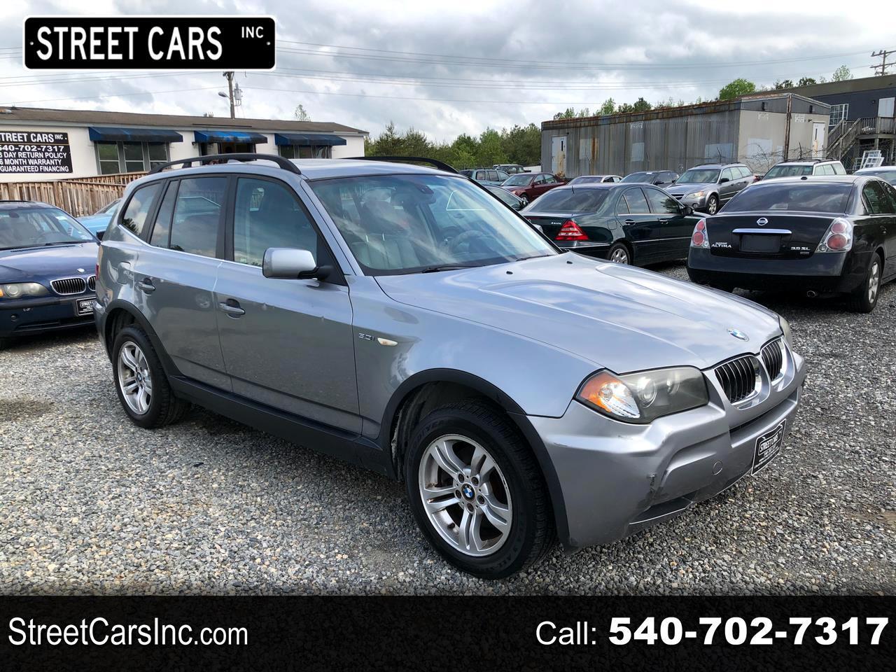 BMW X3 X3 4dr AWD 3.0i 2006