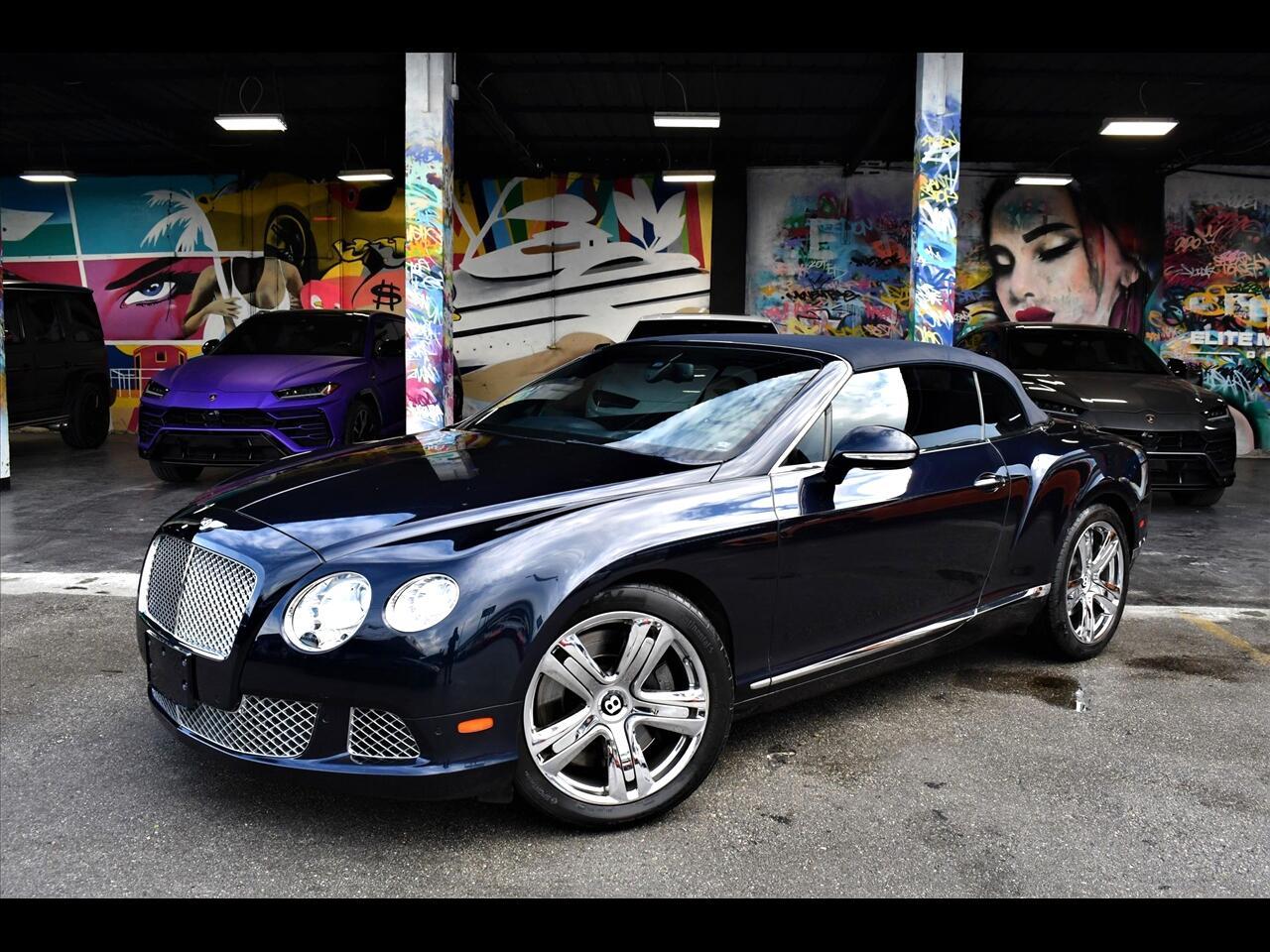 2012 Bentley Continental GTC Convertible 2D GTC AWD 6.0L W12 Turbo