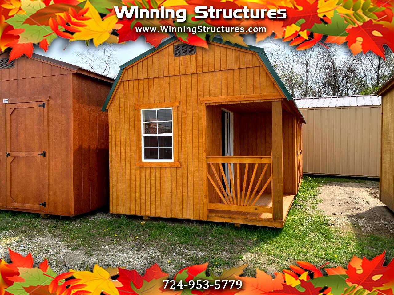 Backyard Outfitters Lofted Side Porch Cabin  2021