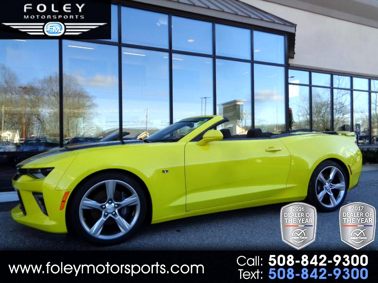 used 2017 chevrolet camaro 2dr conv ss w 1ss for sale in shrewsbury leominster ma 01545 foley. Black Bedroom Furniture Sets. Home Design Ideas