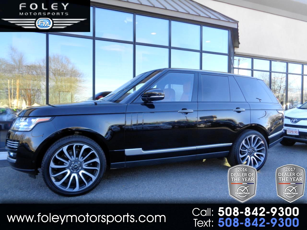 2017 Land Rover Range Rover V8 Supercharged Autobiography SWB