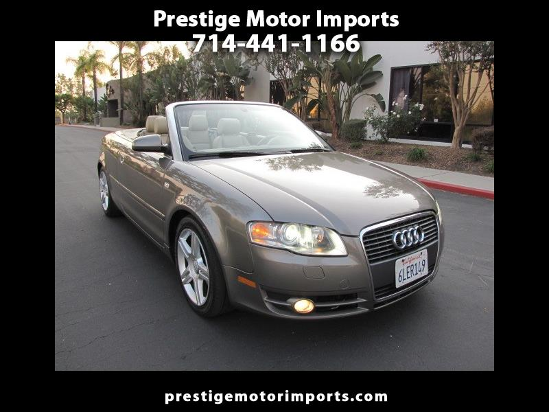 2007 Audi A4 2.0T Cabriolet with Multitronic