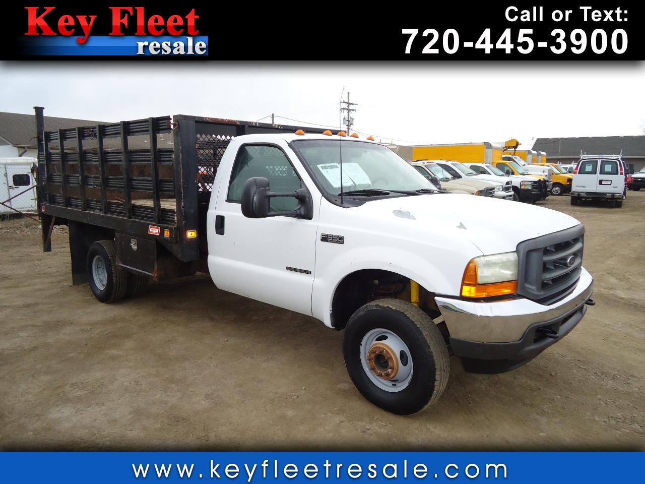 2001 Ford Super Duty F-350 DRW 12 Foot Stake Body with Liftgate