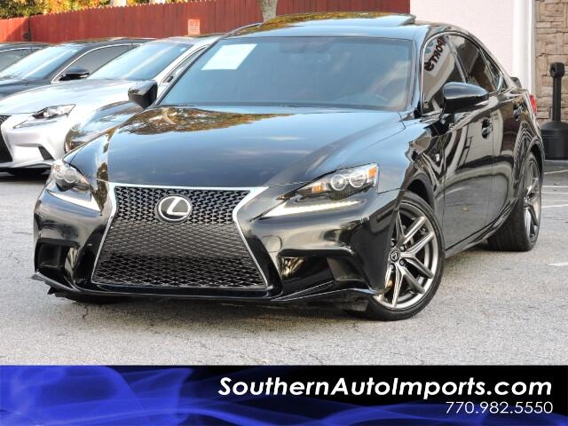 2015 Lexus IS 250 F Sport Premium w/ Rioja Red Leather Sunroof LED