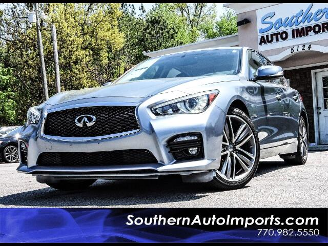 2014 Infiniti Q50 Sport Hybrid AWD Paddle Shifters 1owner