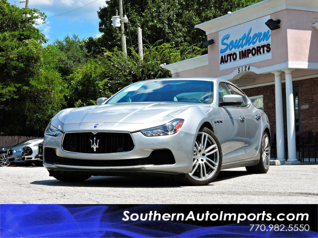 2014 Maserati Ghibli Sport Pkg S Q4 Paddle Shifter Back up Camera