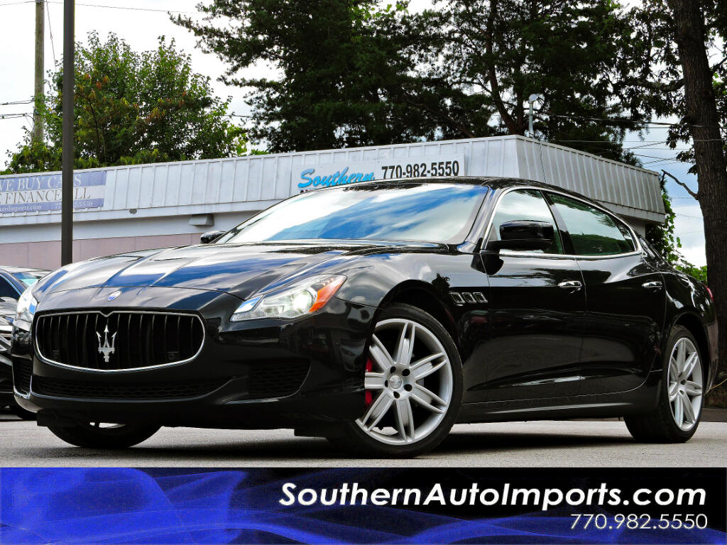 2015 Maserati Quattroporte S Q4 w/Sport Pkg Paddle Shifter Back up Camera