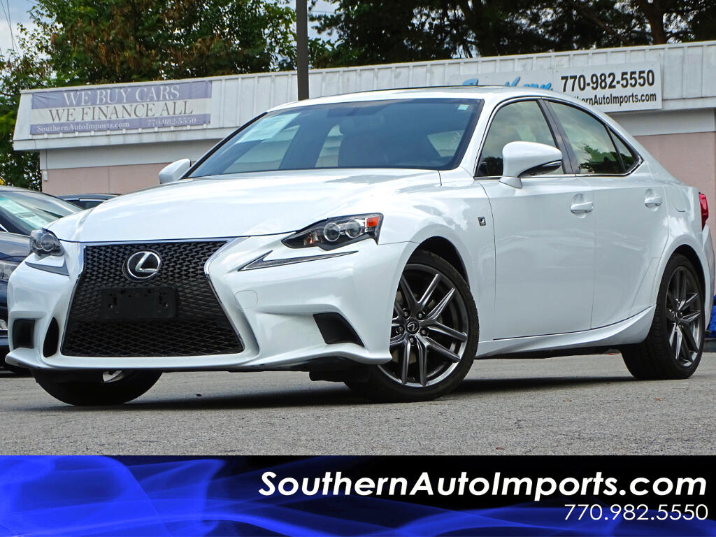 2015 Lexus IS 250 F-Sport Package w/Navigation Red Leather Seats