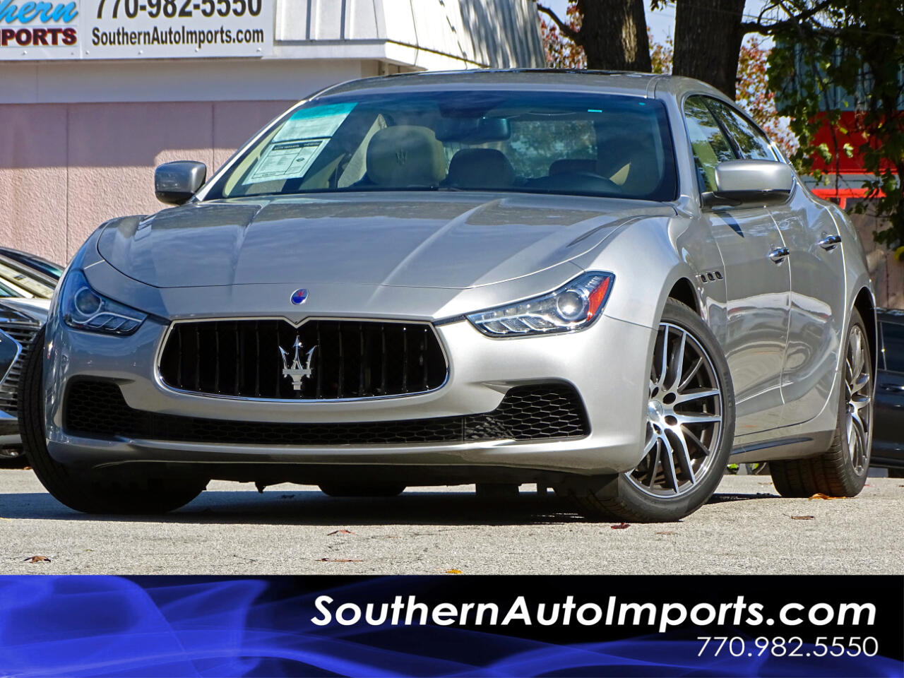 2015 Maserati Ghibli Sport Package w/Paddle Shifters Navigation