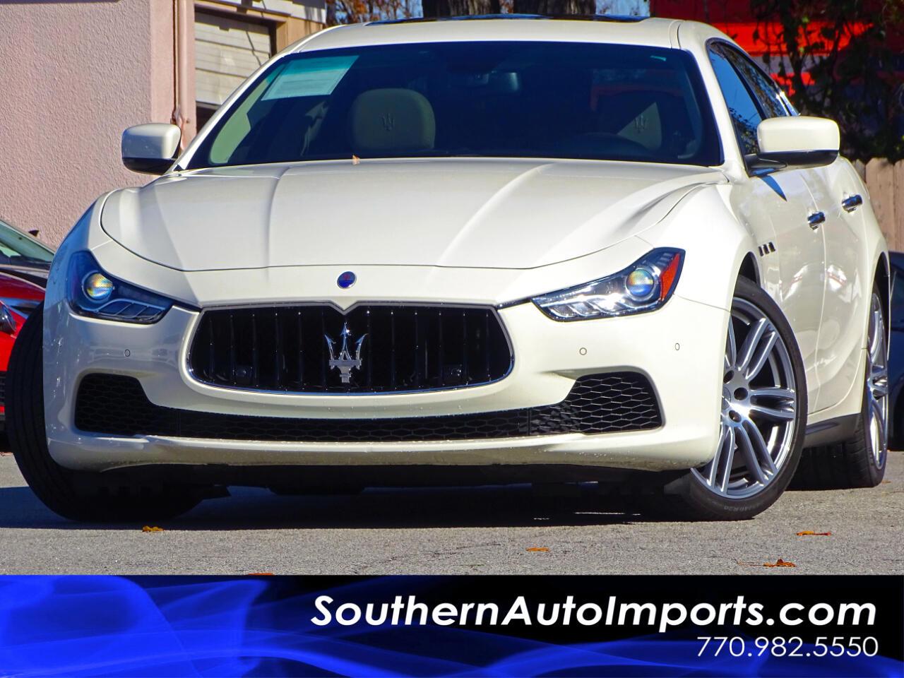 2015 Maserati Ghibli Sport & Premium Pkg w/Paddle Shifter Back up Camer