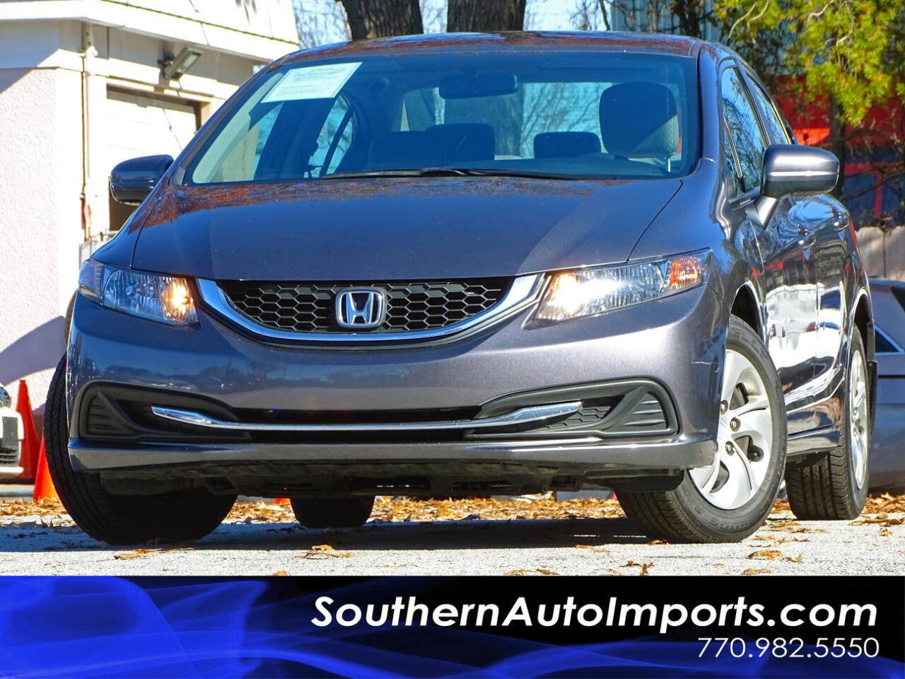 2015 Honda Civic LX w/Back up Camera Bluetooth