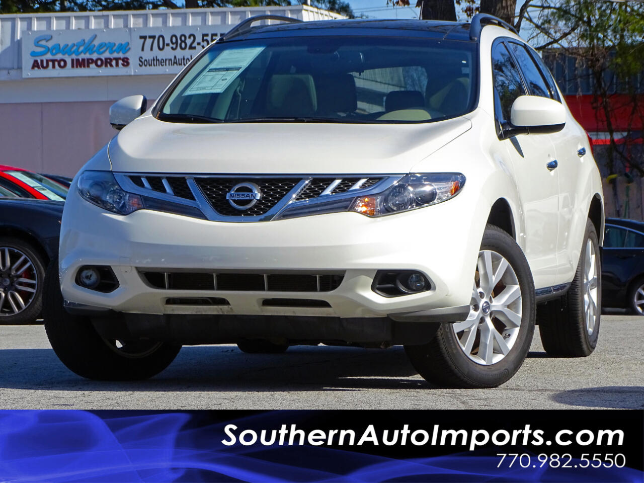 2014 Nissan Murano SL w/Panorama Roof Back Up Camera