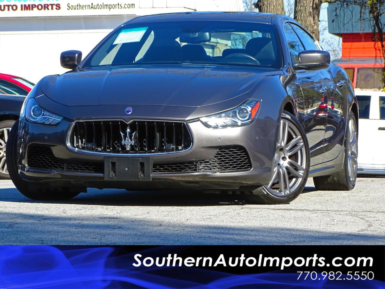 2015 Maserati Ghibli S Q4 w/Navigation 1owner Sport Options