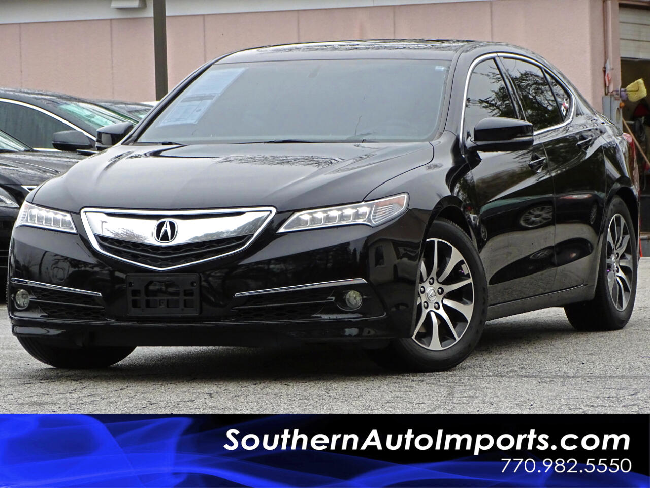 2016 Acura TLX Red Leather Interior w/Back Up Camera