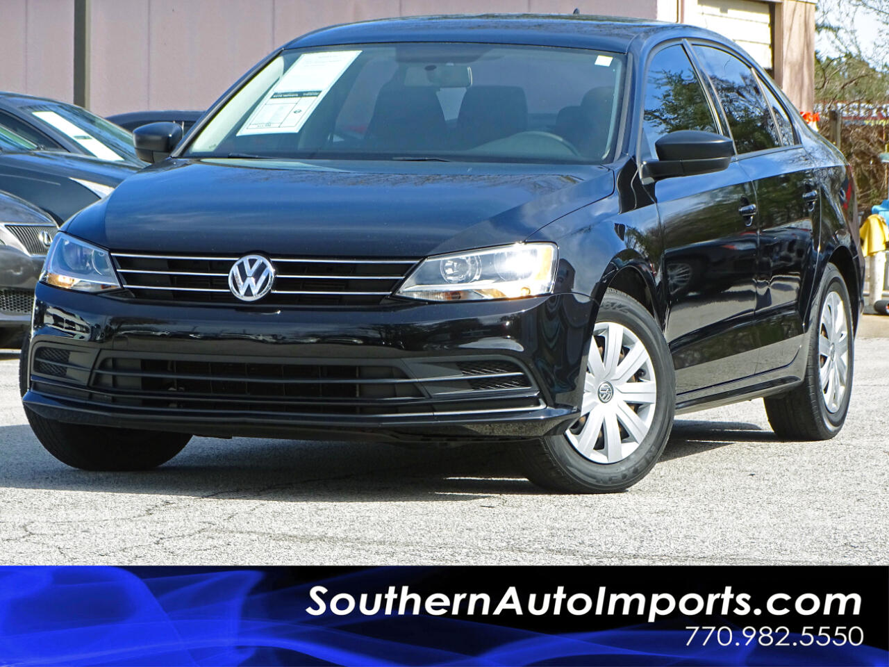 2015 Volkswagen Jetta Sedan S w/Technology Pkg Back Up Camera Keyless