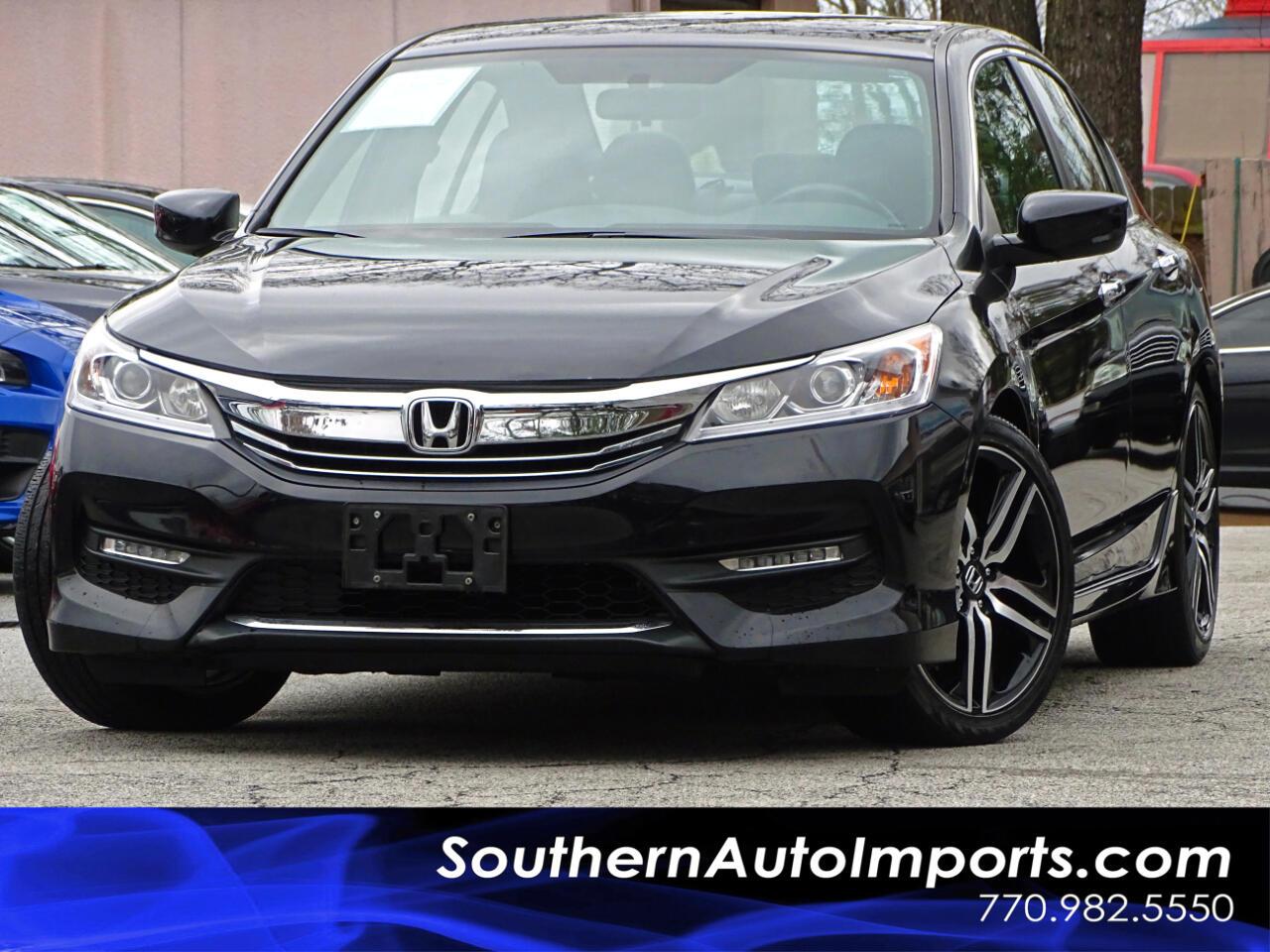 2016 Honda Accord Sedan Sport w/Back up Camera Bluetooth