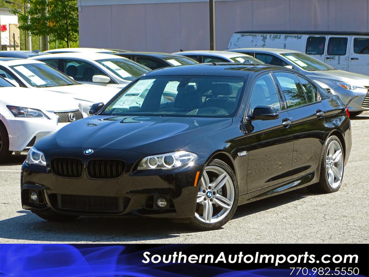 2014 BMW 5 Series ///M Sport Pkg Premium Pkg Back up Cam Navigation