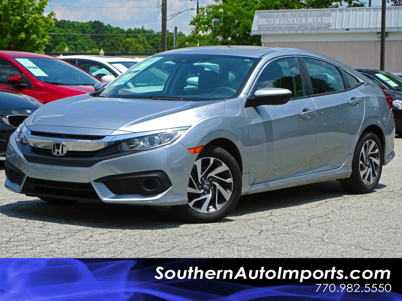 2016 Honda Civic Sedan EX w/Honda Sensing Back up Camera Bluetooth