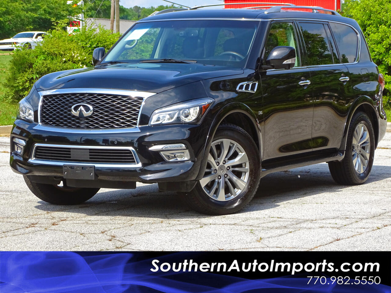 2015 Infiniti QX80 4WD Back up Cam Navigation System 3rd Row Seats