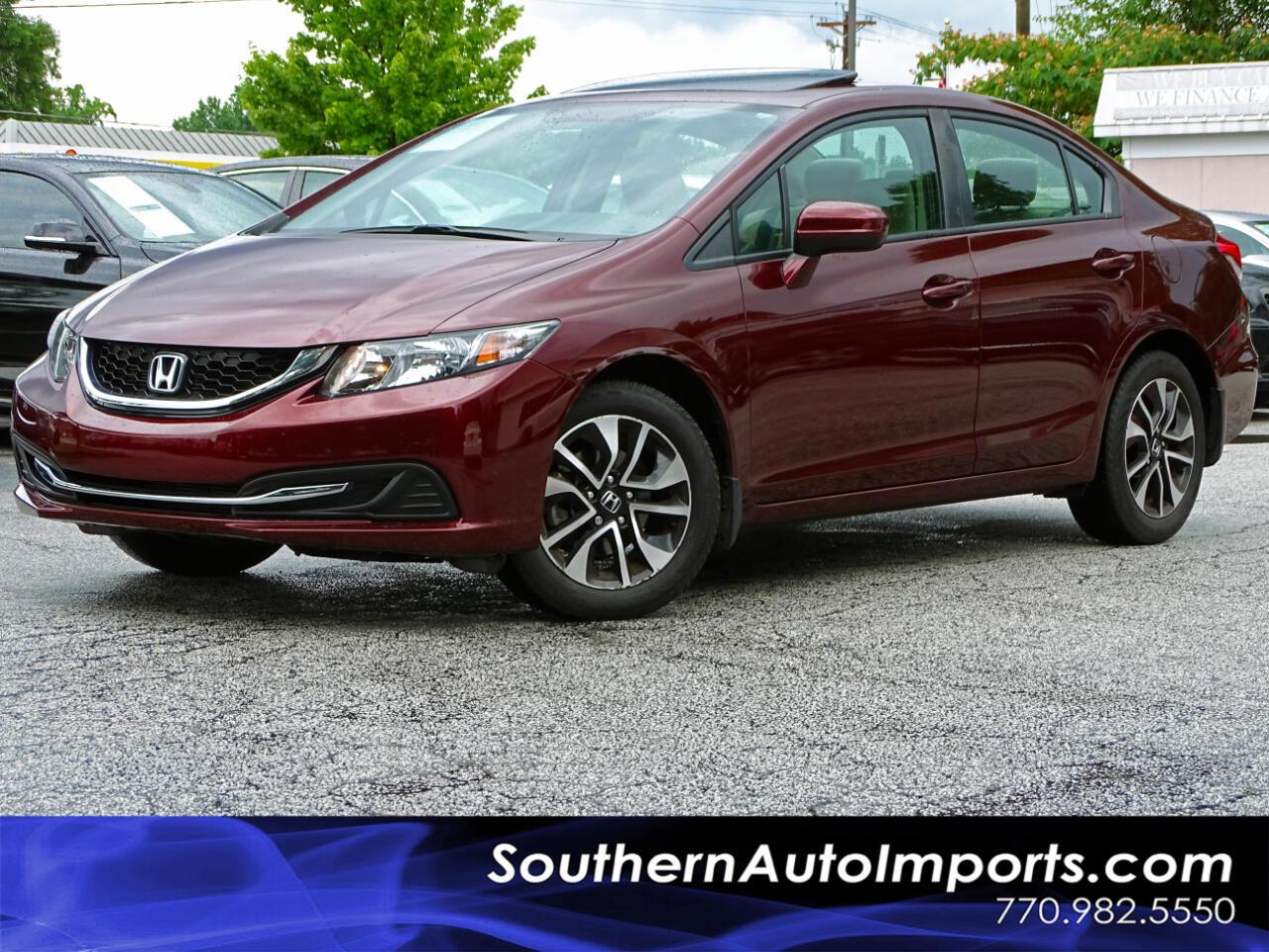 2015 Honda Civic Sedan EX Back up Camera BLuetooth Keyless Entry
