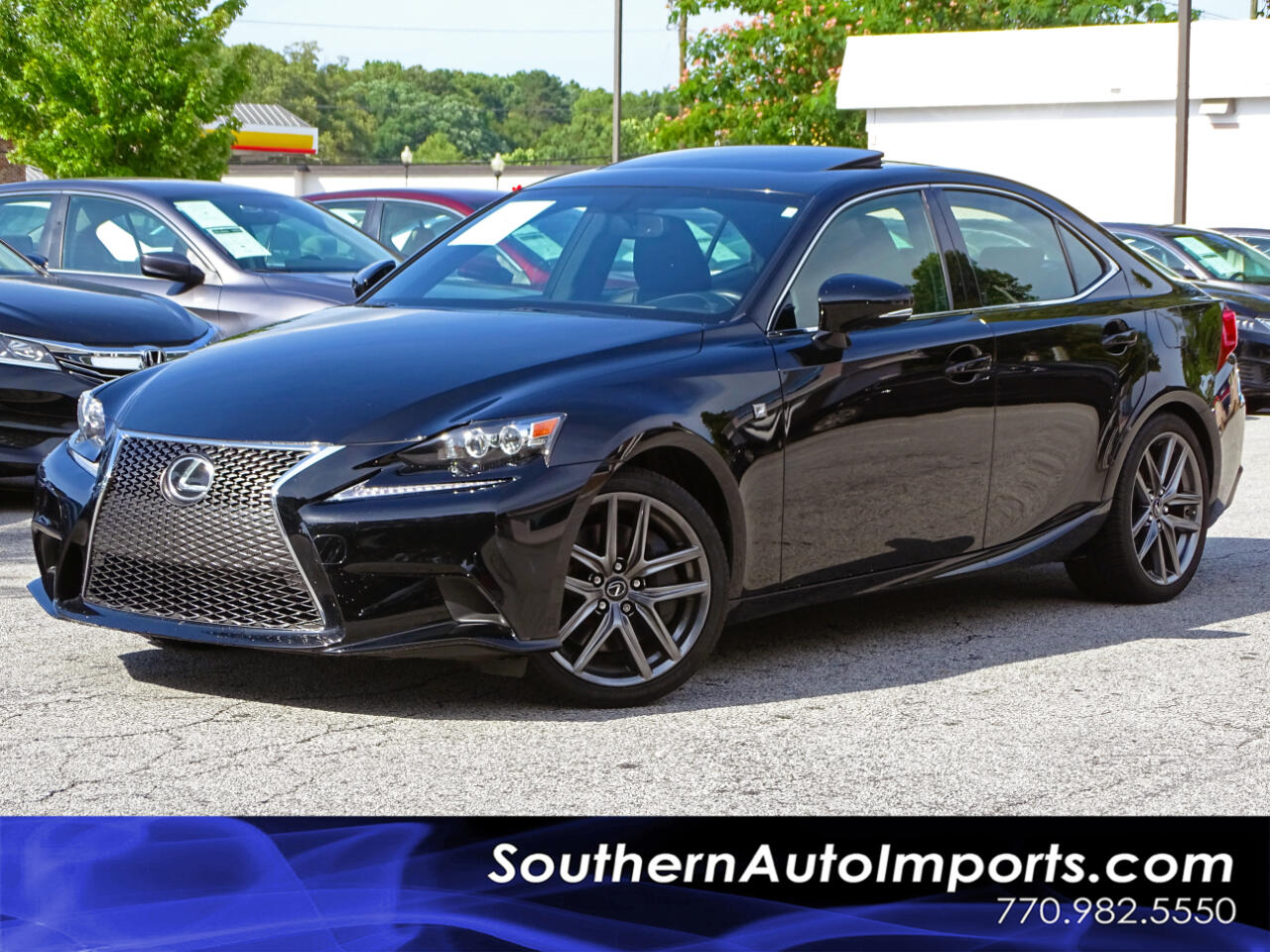 2016 Lexus IS 200t F-Sport Pkg Back up Cam Blind Assist Sunroof