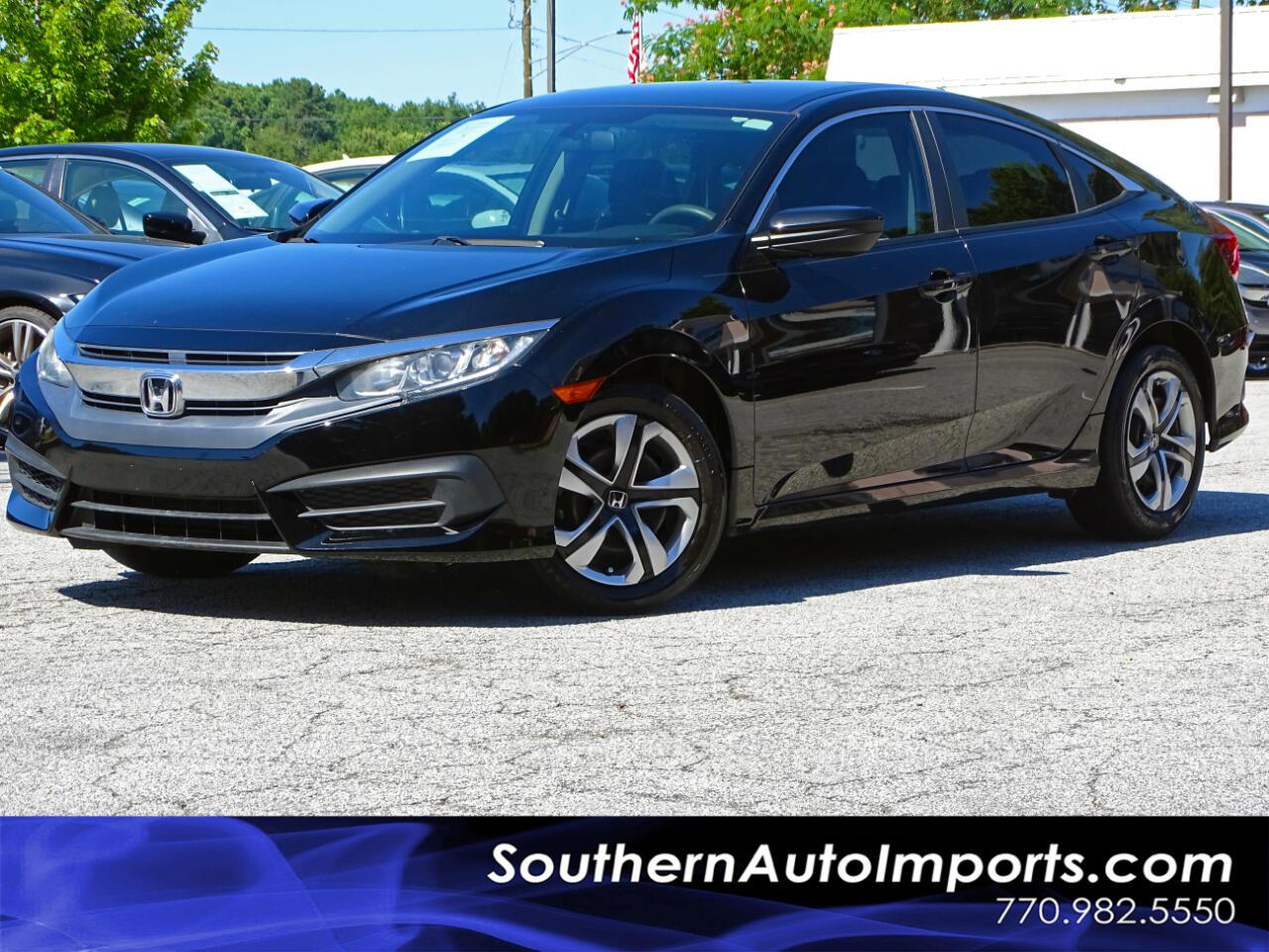 2016 Honda Civic Sedan LX w/Back up Camera Bluetooth Connection