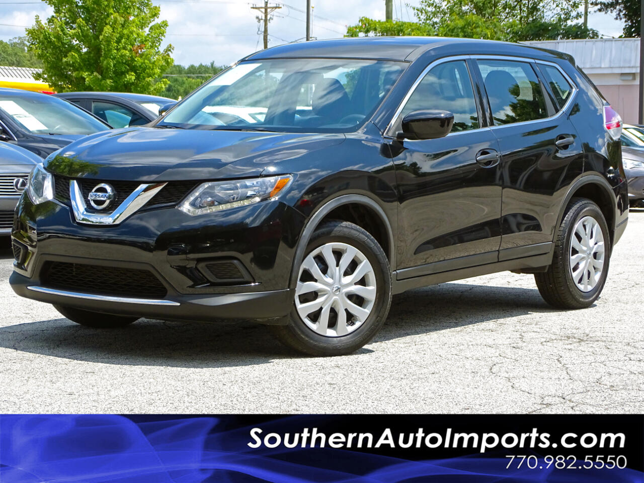 2016 Nissan Rogue AWD S w/Back up Camera Satellite Radio 1-Owner