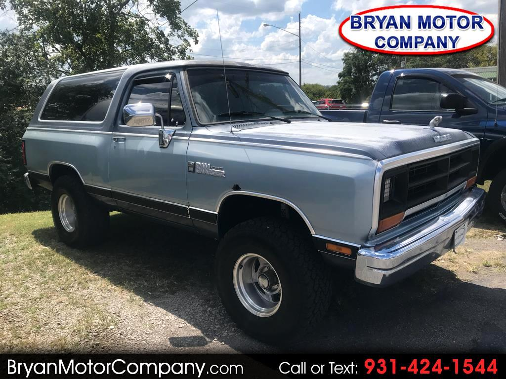 1989 Dodge Ram Charger 4dr Wagon AW100 4WD
