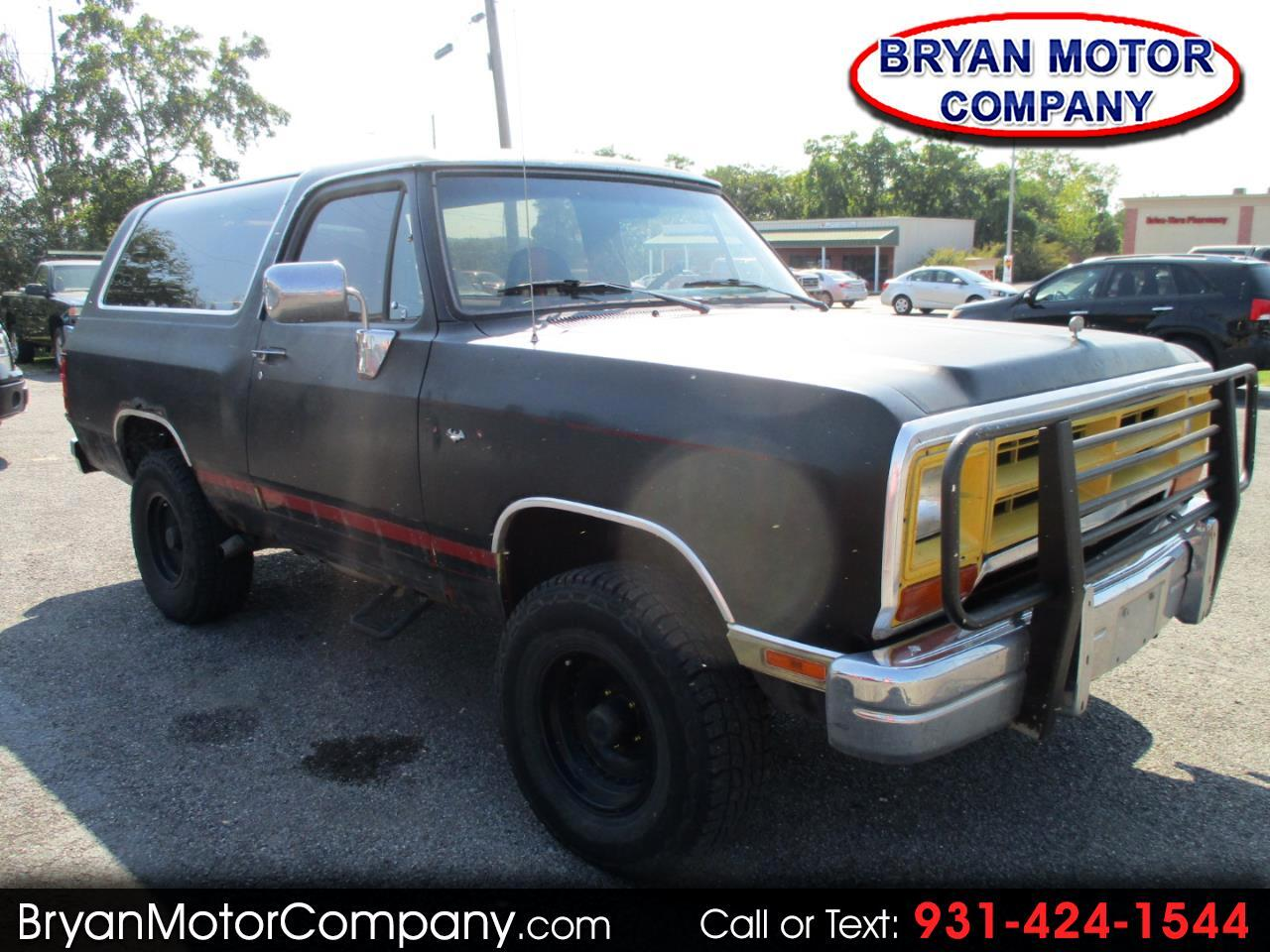 1990 Dodge Ram Charger 2dr AW150 4WD