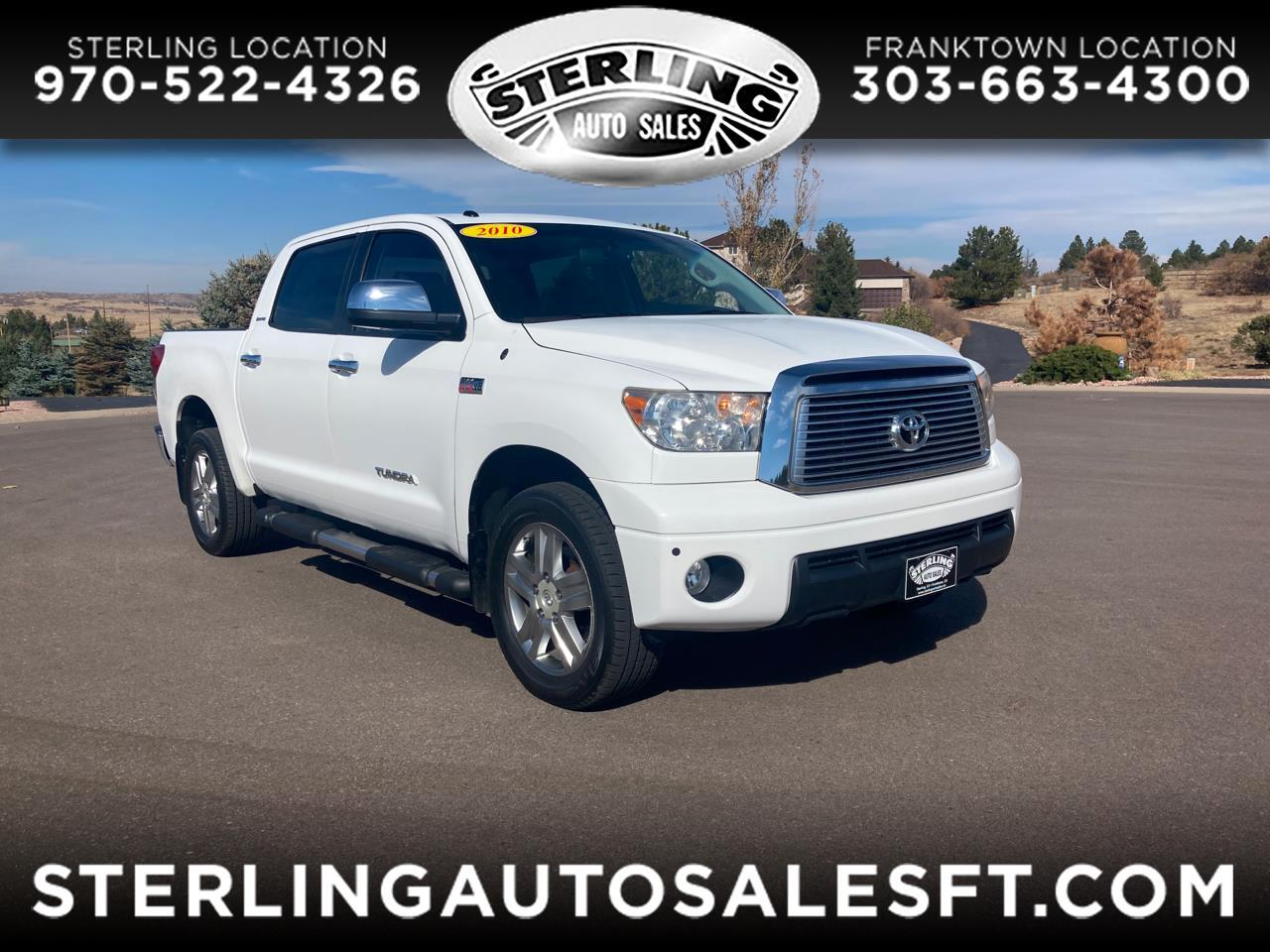 Toyota Tundra 4WD Truck CrewMax 5.7L FFV V8 6-Spd AT LTD (Natl) 2010