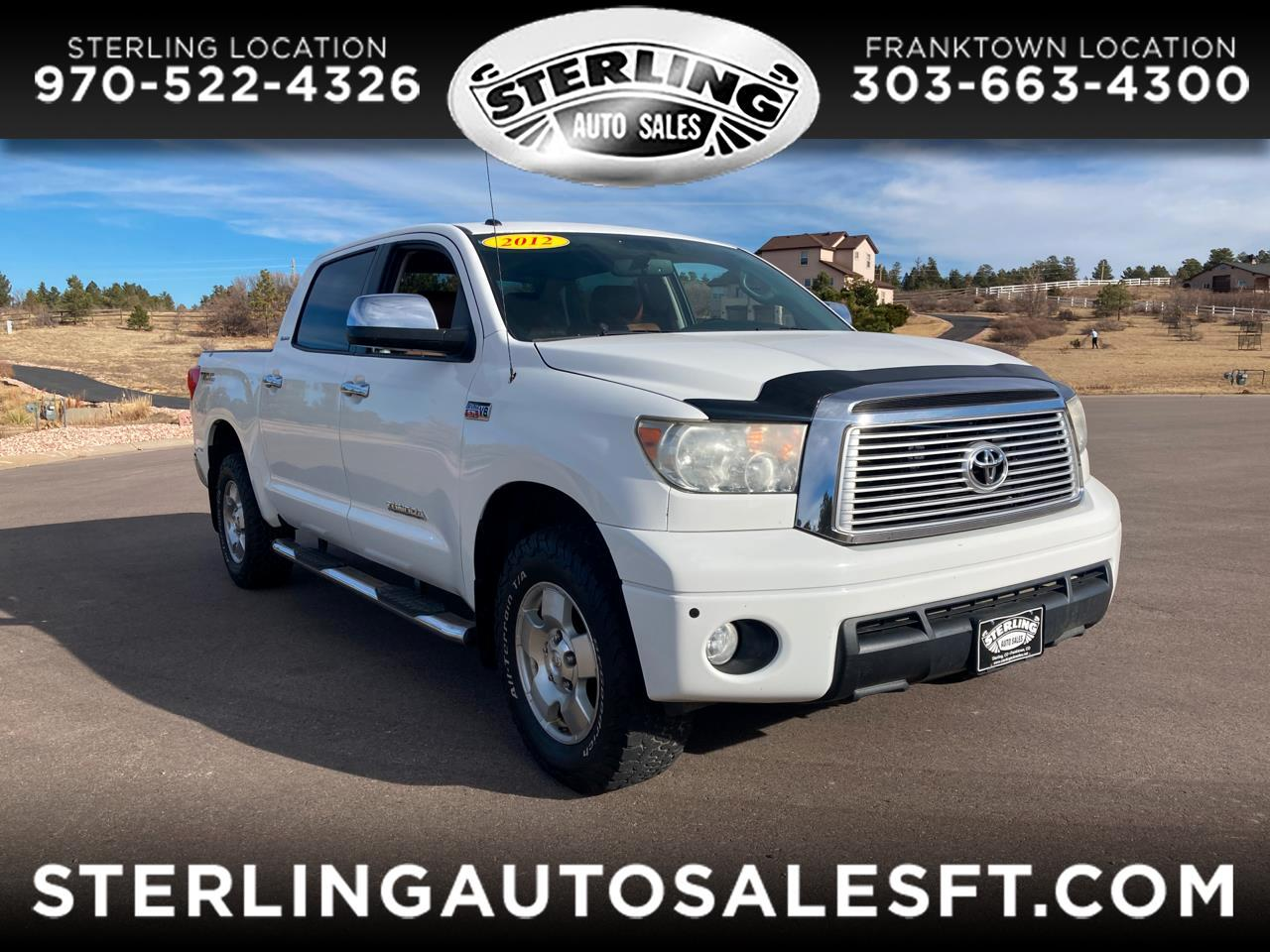 Toyota Tundra 4WD Truck CrewMax 5.7L FFV V8 6-Spd AT LTD (Natl) 2012