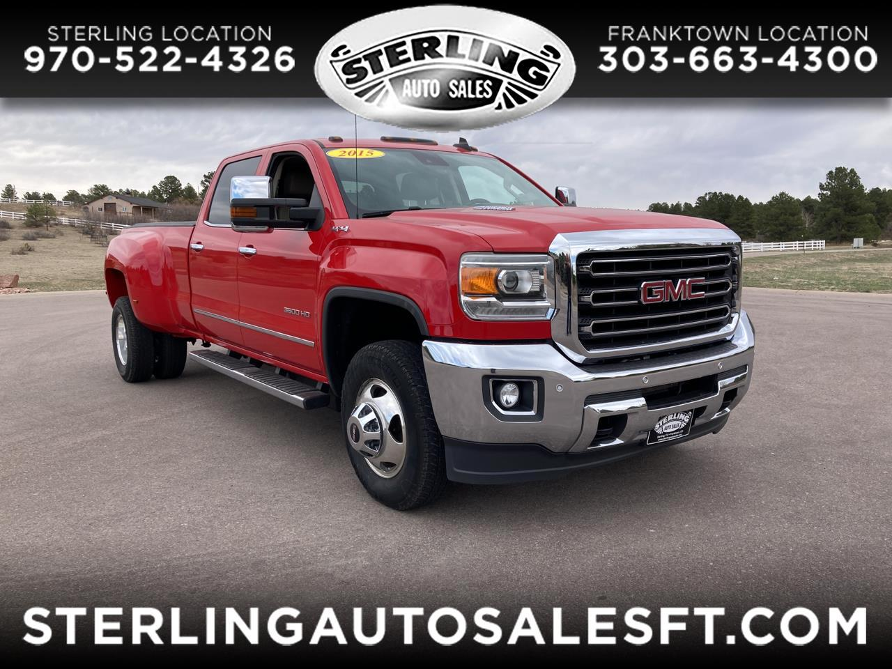 "GMC Sierra 3500HD available WiFi 4WD Crew Cab 153.7"" SLT 2015"