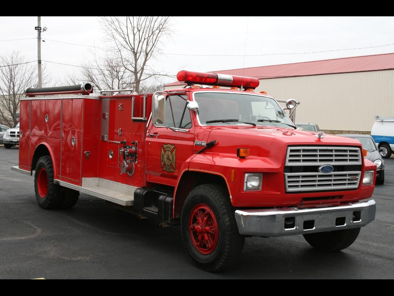 1985 Ford F8000 WELCH PUMPER FIRE TRUCK