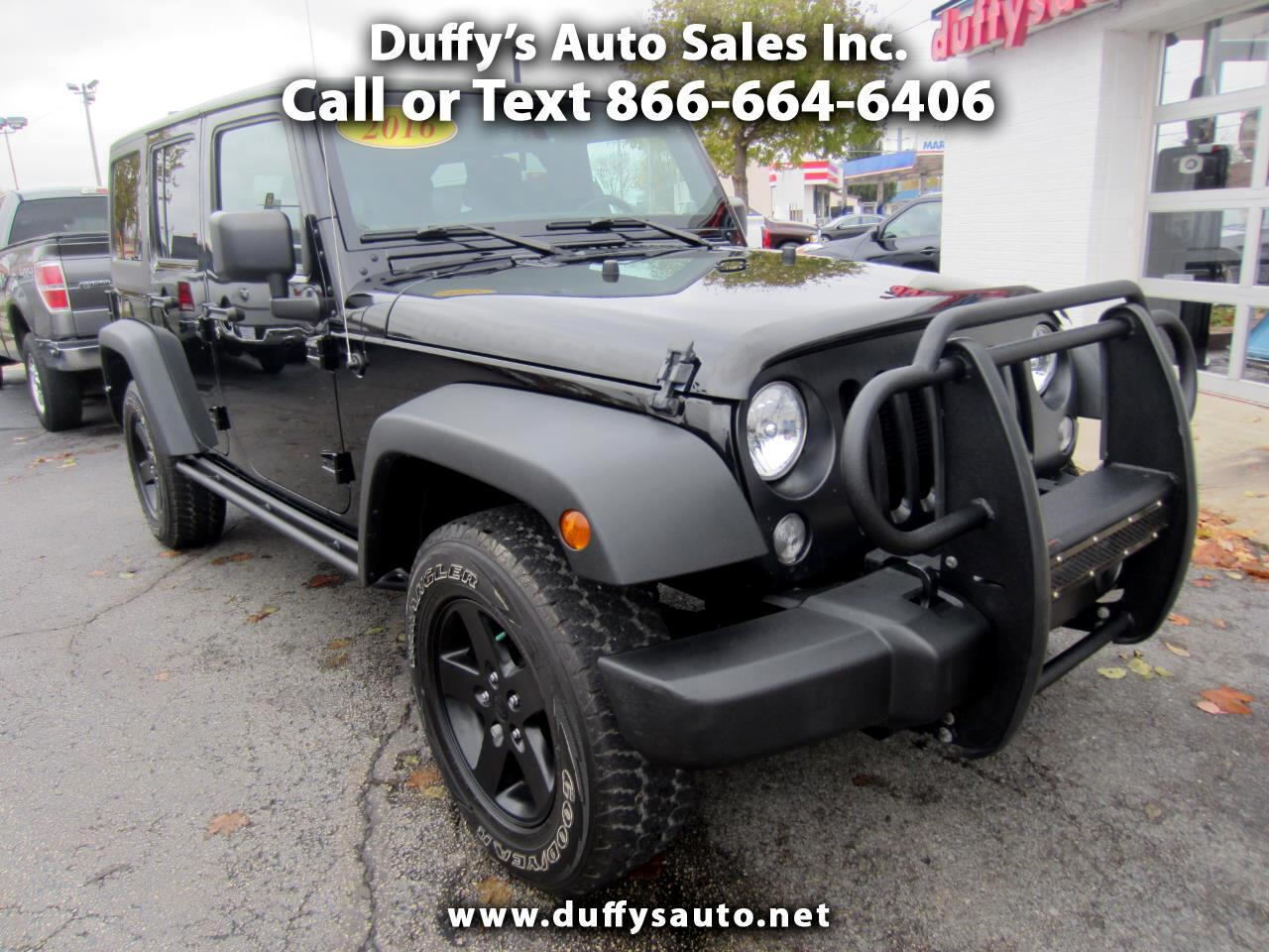 2016 Jeep Wrangler Unlimited 4WD UNLIMITED SPORT