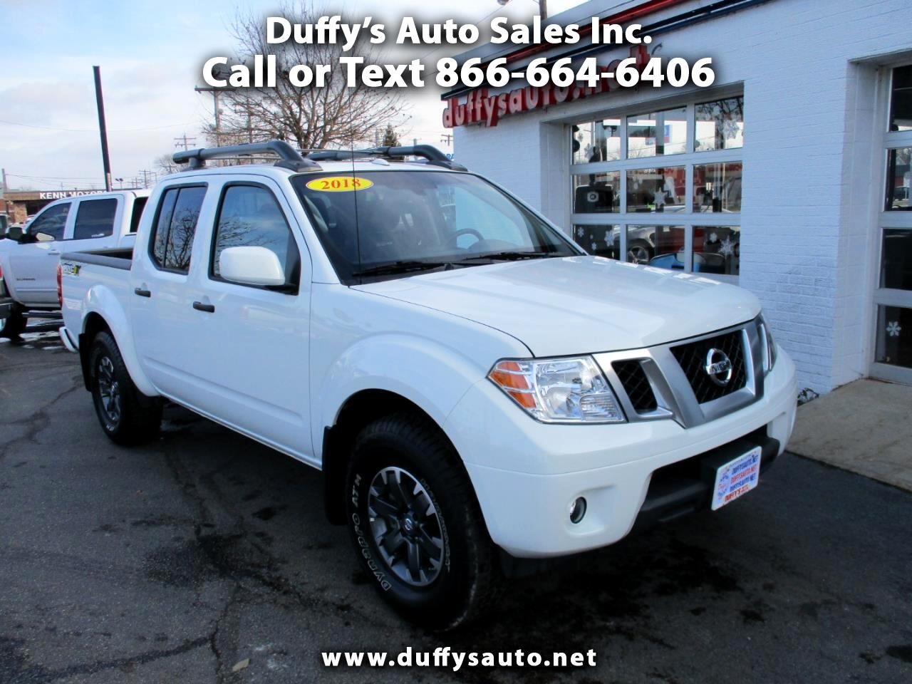 used 2018 nissan frontier crew cab 4x4 pro 4x auto for. Black Bedroom Furniture Sets. Home Design Ideas
