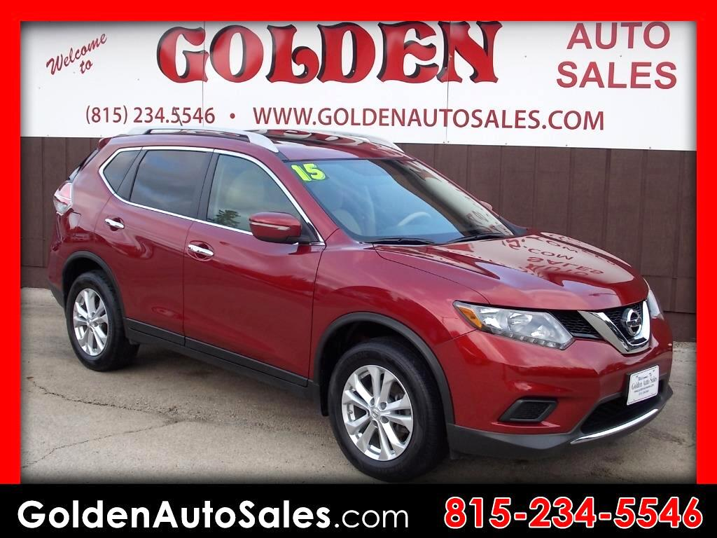 used 2015 nissan rogue sv awd for sale in byron il 61010 golden auto sales. Black Bedroom Furniture Sets. Home Design Ideas