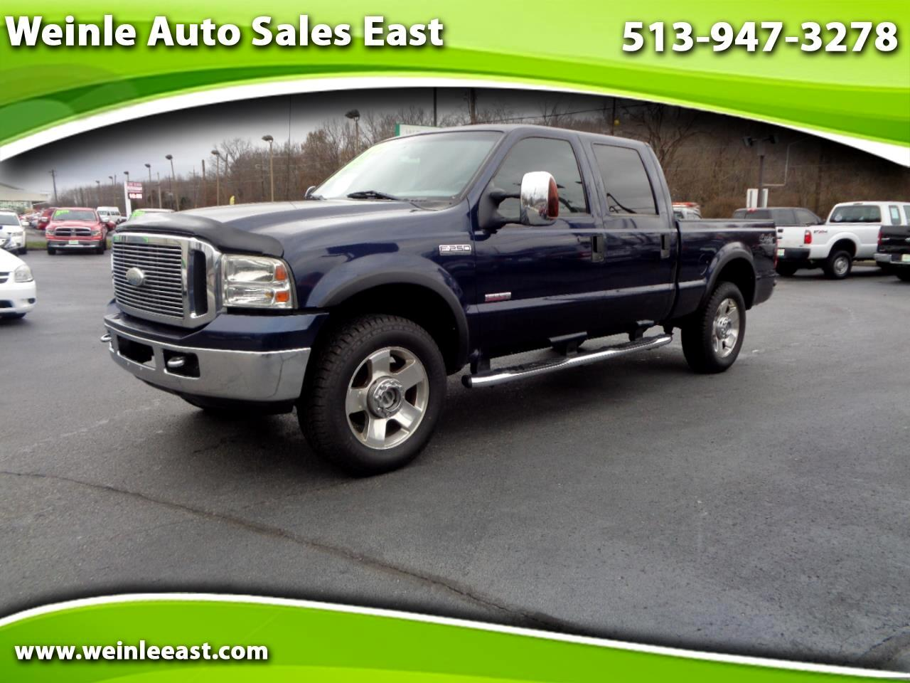 2007 Ford Super Duty F-250 LARIAT 4X4 CREW CAB 6.0 POWER STROKE DIESEL