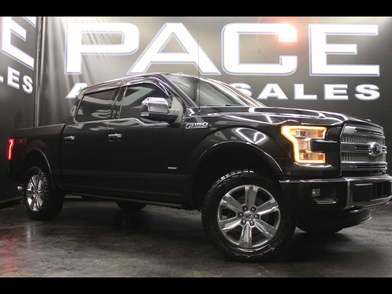 2015 Ford F-150 4WD SuperCrew Platinum Leveled