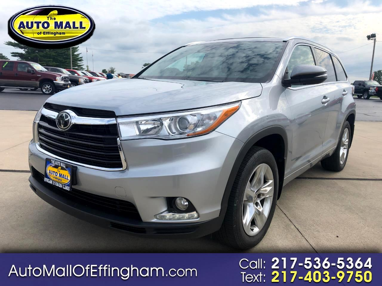 Toyota Highlander AWD 4dr V6 Limited Platinum (Natl) 2015