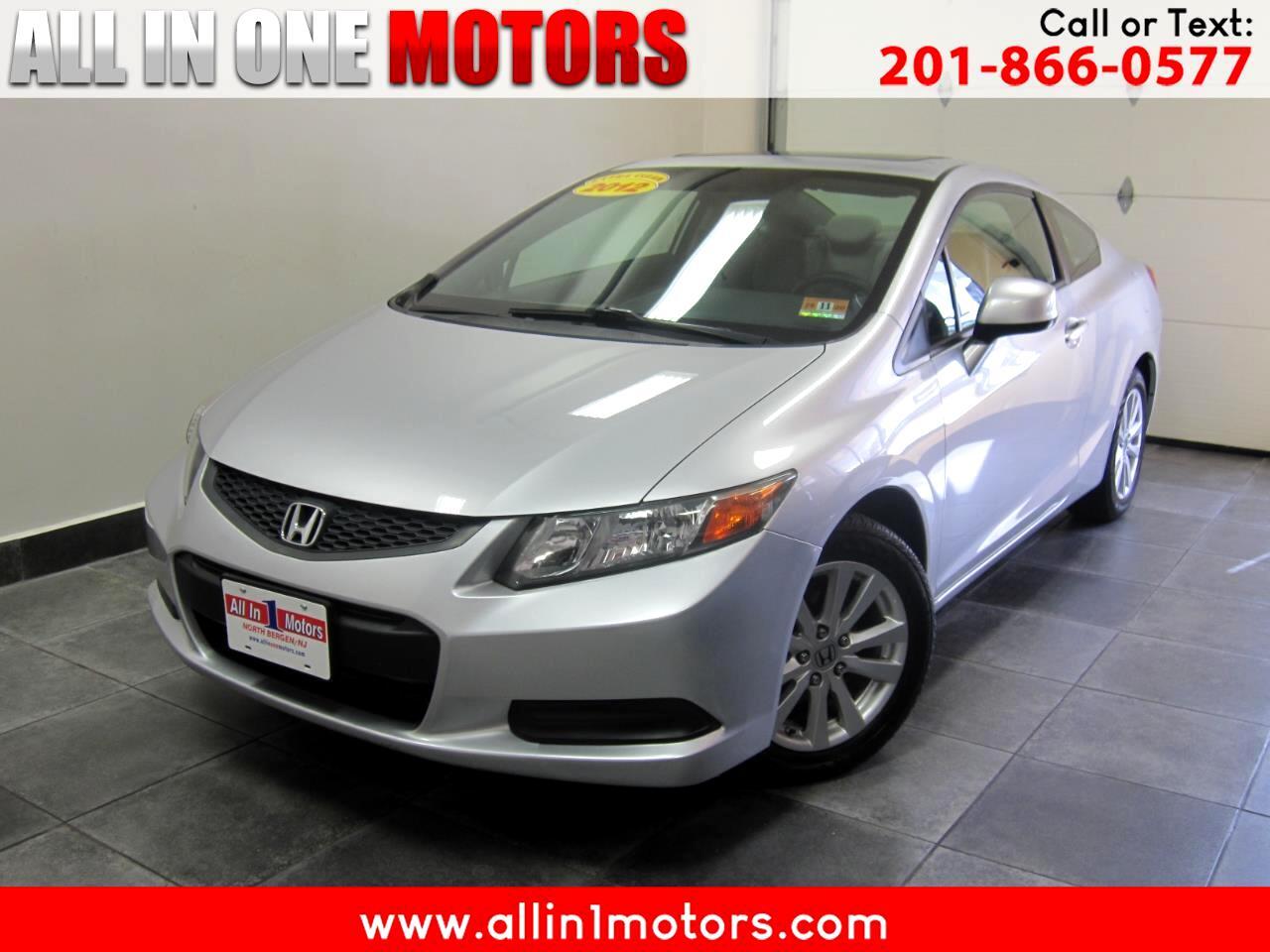 2012 Honda Civic Cpe 2dr Auto EX