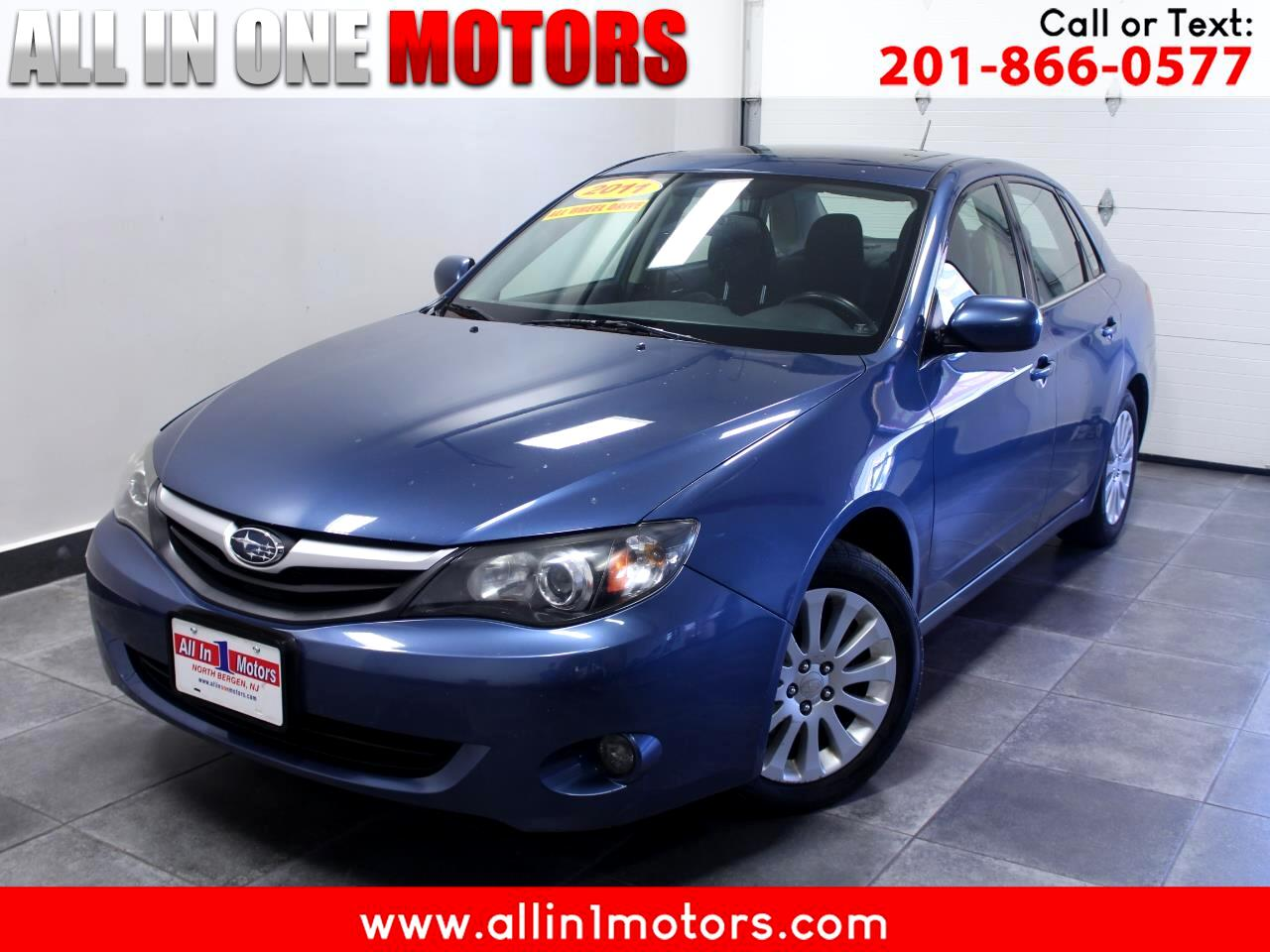 Subaru Impreza Sedan 4dr Man 2.5i Premium w/Pwr Moonroof Value Pkg 2011