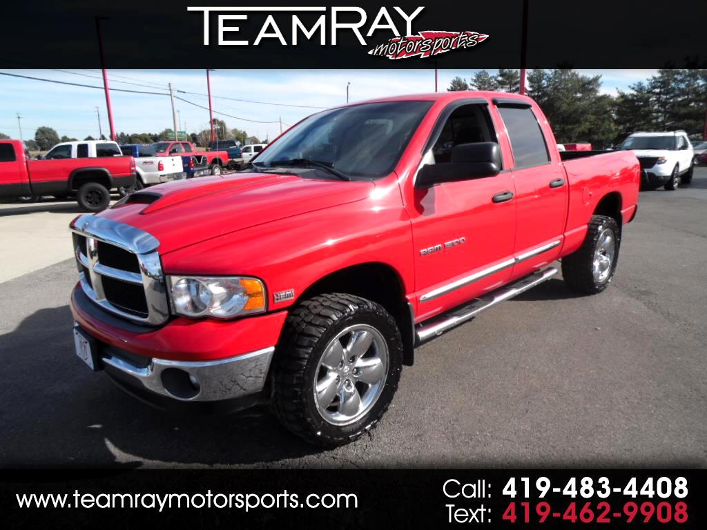 Used Cars For Sale Bellevue Oh 44811 Teamray Motorsports Inc Dodge Ram 2005 Silver 1500 Hemi 4dr Quad Cab 1405 Wb 4wd Slt