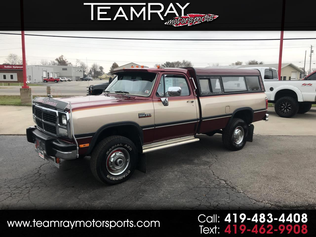 "1993 Dodge D250 & W250 Sweptline 131"" WB 4WD"