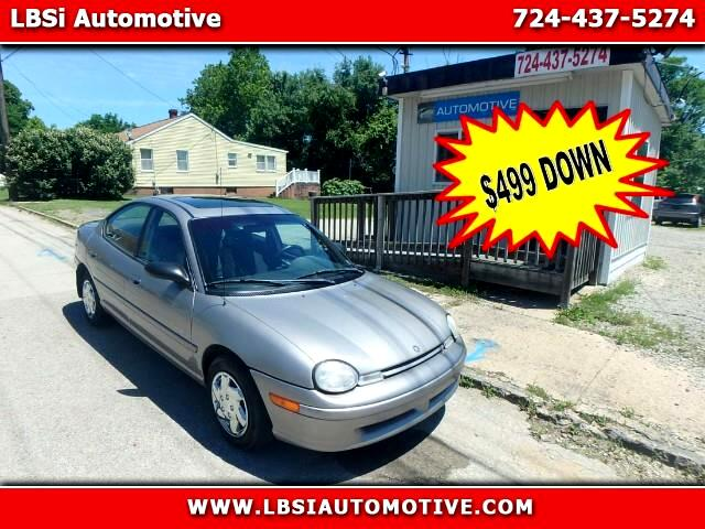 1998 Plymouth Neon Highline sedan