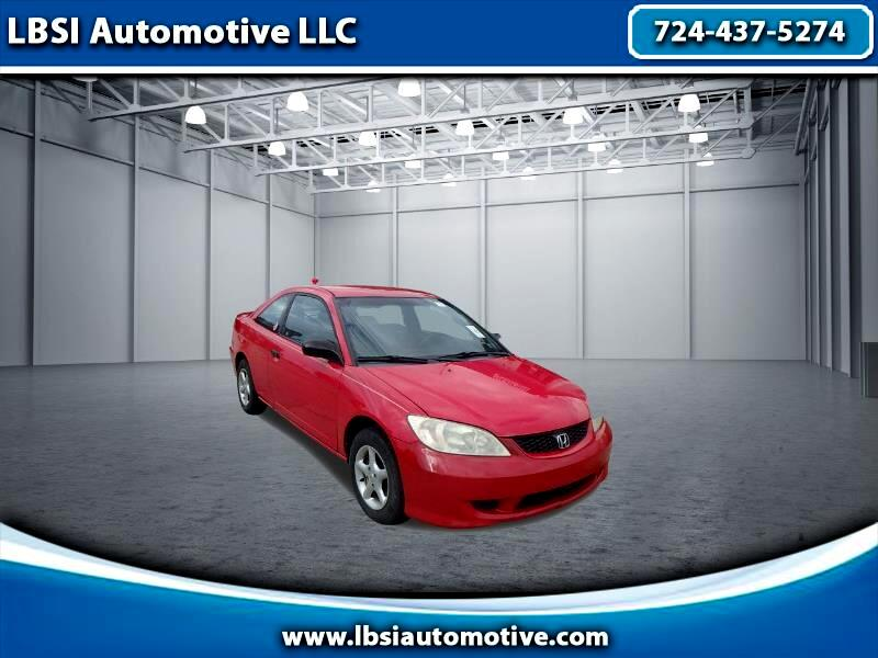 Honda Civic VP Coupe AT w/ Front Side Airbags 2005