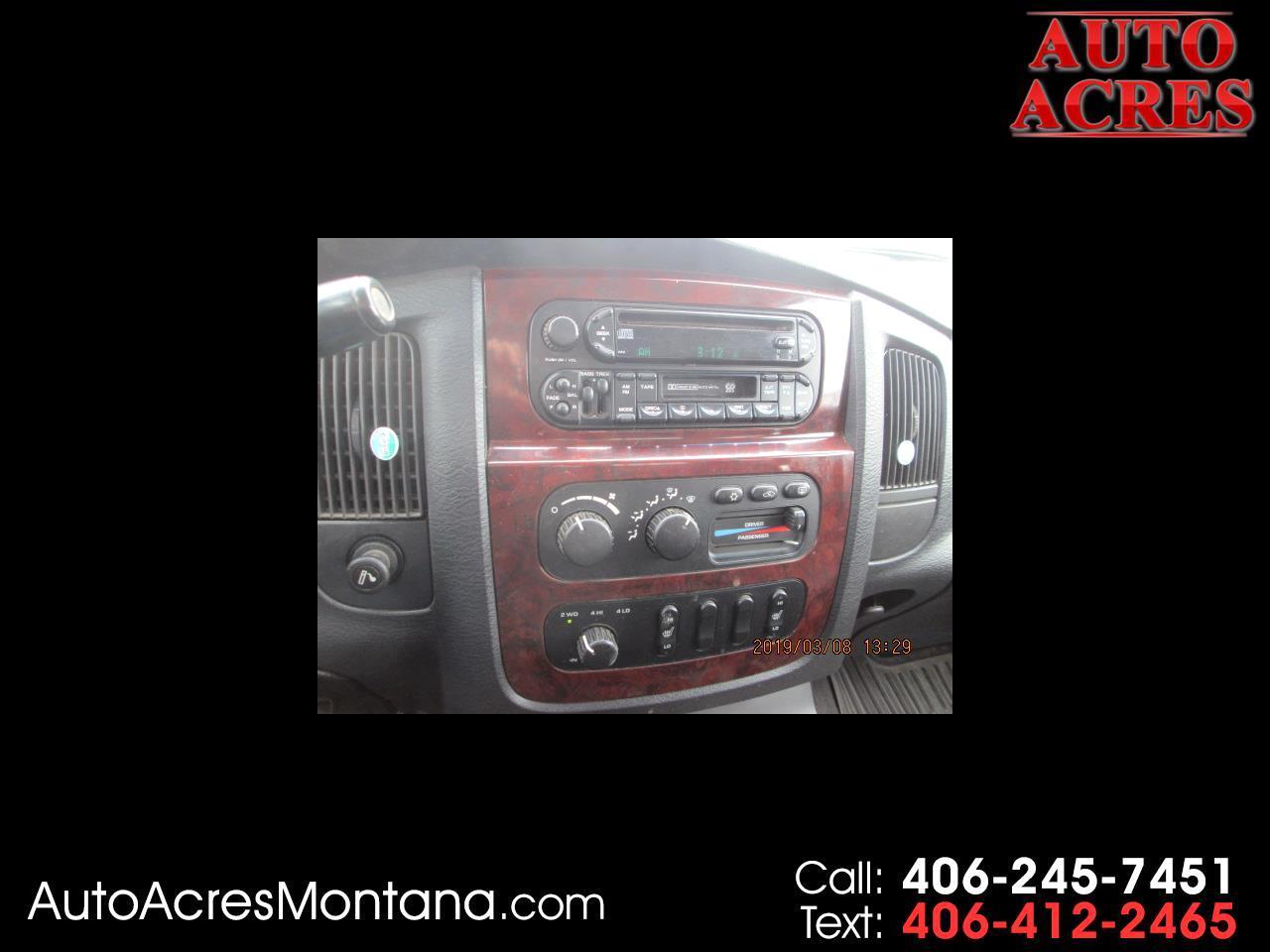 "2003 Dodge Ram 3500 4dr Quad Cab 160.5"" WB DRW 4WD SLT"